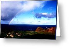 Rainbow At Punta Banda Greeting Card