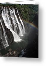 Rainbow At Victoria Falls Greeting Card