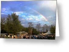Rainbow At Wind Gap Park Greeting Card