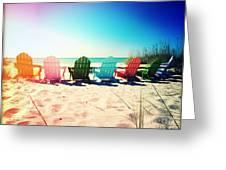 Rainbow Beach Photography Light Leaks1 Greeting Card