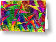 Rainbow Bliss - Pin Wheels - Painterly - Abstract - H Greeting Card