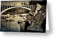 Rainbow Bridge In Folsom Ca Greeting Card