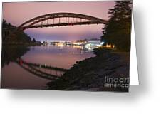 Rainbow Bridge Laconner Greeting Card