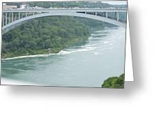 Rainbow Bridge Over Niagara Greeting Card