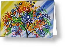 Rainbow Bubble Tree Greeting Card