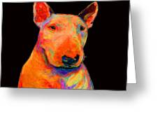 Rainbow Bull Terrier Greeting Card