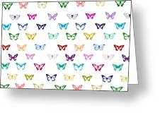 Rainbow Butterfly Pattern Greeting Card