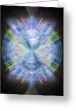 Rainbow Chalice Cell Isphere Matrix Greeting Card