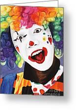 Rainbow Clown Greeting Card