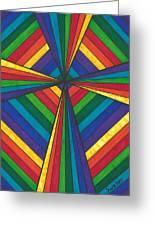 Rainbow Cross Greeting Card