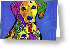 Rainbow Dalmatian Greeting Card