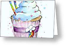 Rainbow-dash-themed Cupcake Greeting Card