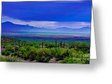 Rainbow Desert Landscape Greeting Card