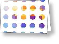Rainbow Dots  Greeting Card