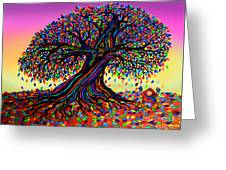 Rainbow Dreams And Falling Leaves Greeting Card