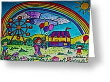 Rainbow Fair Greeting Card