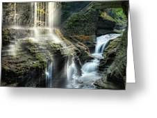 Rainbow Falls Square Greeting Card