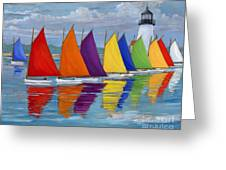 Rainbow Fleet Greeting Card