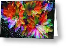 Rainbow Flowers Greeting Card
