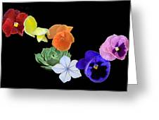 Rainbow Flowers  Greeting Card