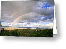 Rainbow In Jerome Greeting Card