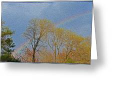 Rainbow In Spring Greeting Card