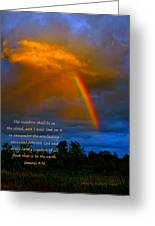 Rainbow In The Cloud Greeting Card