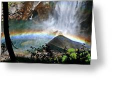 Rainbow In The Mist Greeting Card