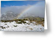 Rainbow In The Mountain Greeting Card