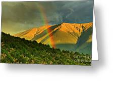 Rainbow In The Mountains Greeting Card