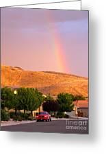 Rainbow In Toscana Greeting Card