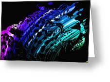 Rainbow Jaguar Greeting Card
