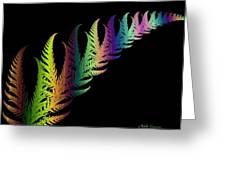Rainbow Leaves Fractals Greeting Card