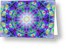 Rainbow Lotus Greeting Card