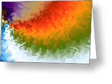 Rainbow On Fire Greeting Card