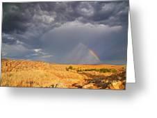 Rainbow On The Plains Greeting Card