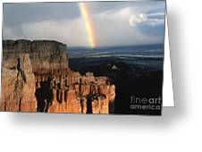 Rainbow Over  Bryce Canyon Greeting Card