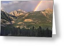 Rainbow Over Colin Range Jasper Np Greeting Card