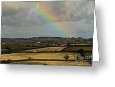 Rainbow Over Fields Greeting Card