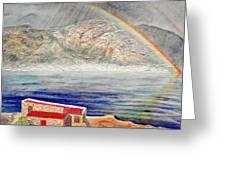 Rainbow Over Hermanus Greeting Card
