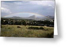 Rainbow Over Lake Estes Greeting Card
