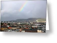 Rainbow Over Oslo Greeting Card