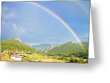 Rainbow Over Rollinsville Greeting Card