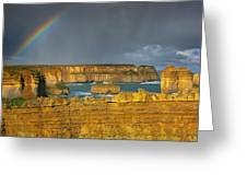 Rainbow Over Southern Ocean Greeting Card
