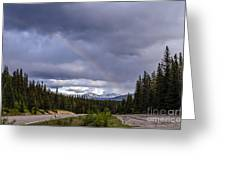 Rainbow Over The Mountains Greeting Card