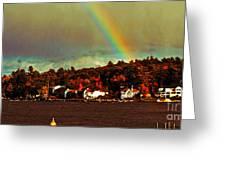 Rainbow Over Winnipesaukee Two Greeting Card