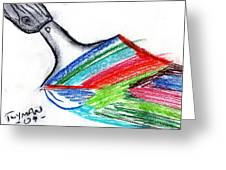 Rainbow Paintbrush Greeting Card