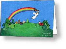 Rainbow Painter Greeting Card by Sarah Batalka