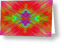 Rainbow Passion Abstract 1 Greeting Card