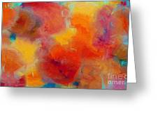Rainbow Passion - Abstract - Digital Painting Greeting Card